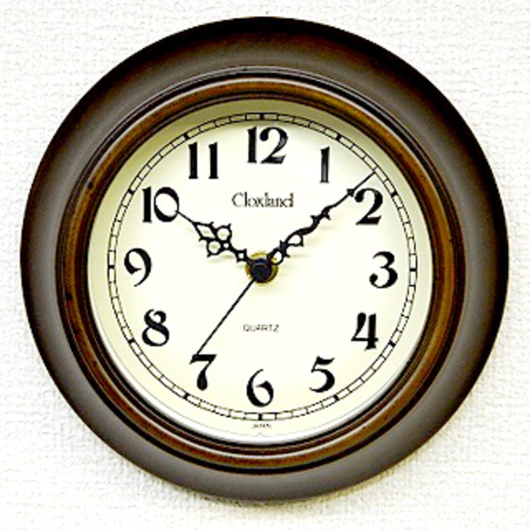 アンティーク掛時計ミニ(置き掛け兼用)丸 QL691