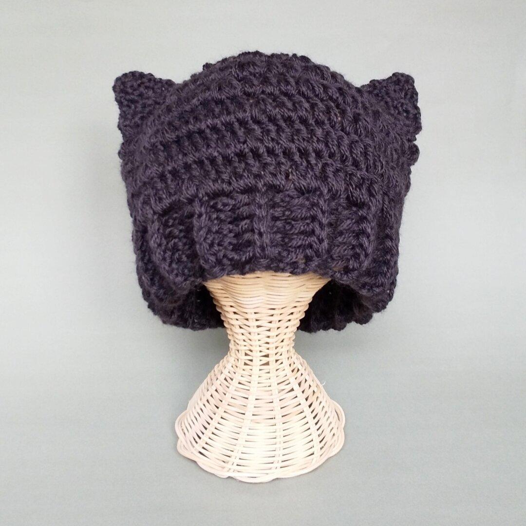黒猫耳ニット帽