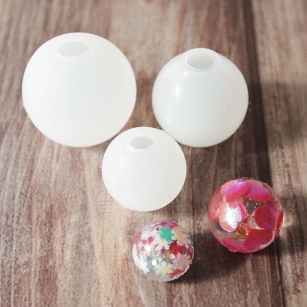 再販(#9-14  球体 3サイズ3個セット)シリコンモールド シリコン型 レジン モールド 型 レジンクラフト シリコンモールド パーツ ビー玉  球
