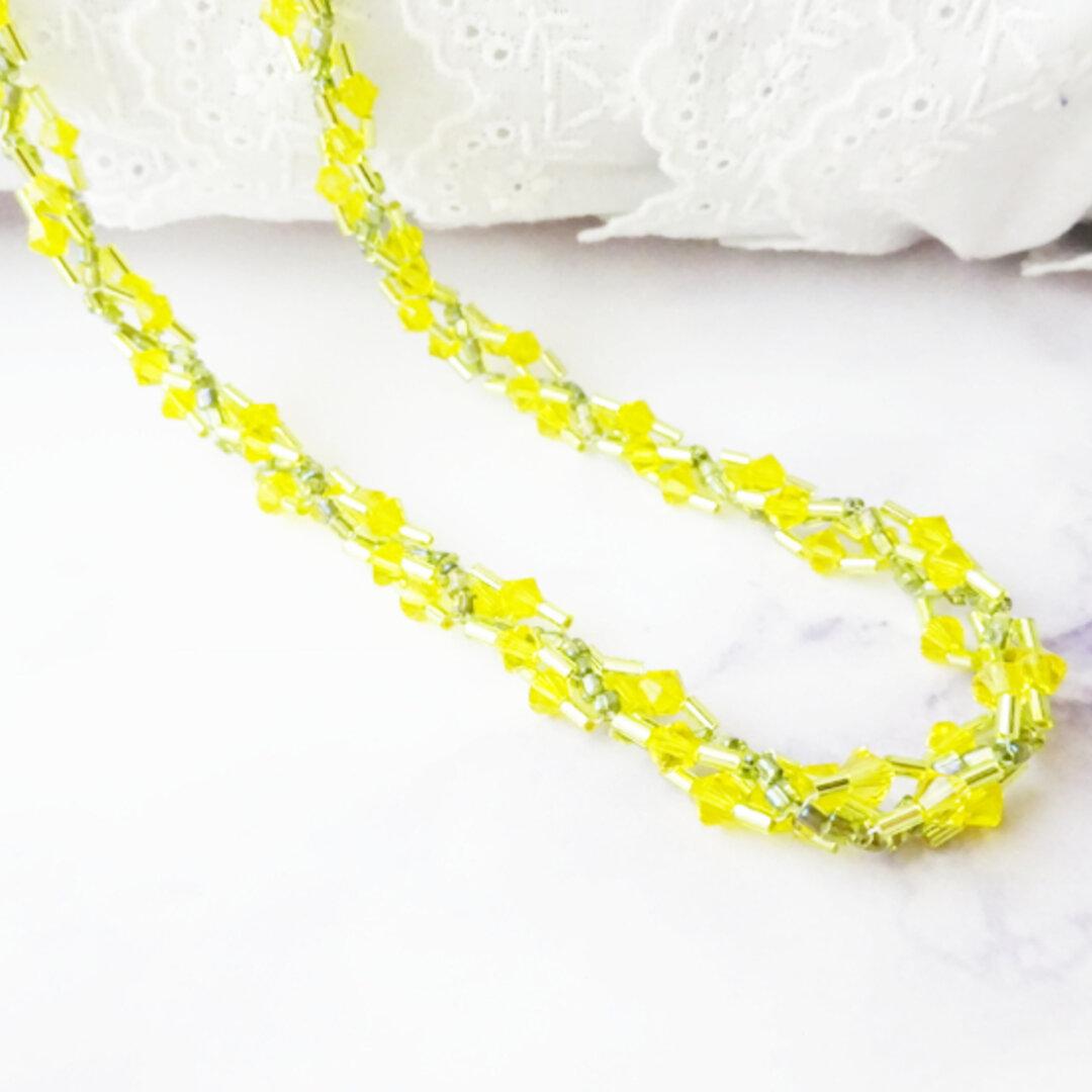 タンポポの花冠ネックレス