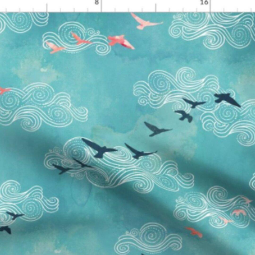 輸入生地 鳥 バード 鳥柄 ハンドメイド素材 生地 布 綿 布地