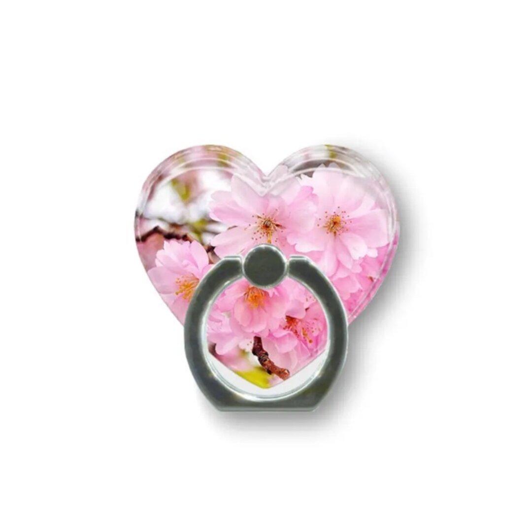 桜54  ハートスマホリング