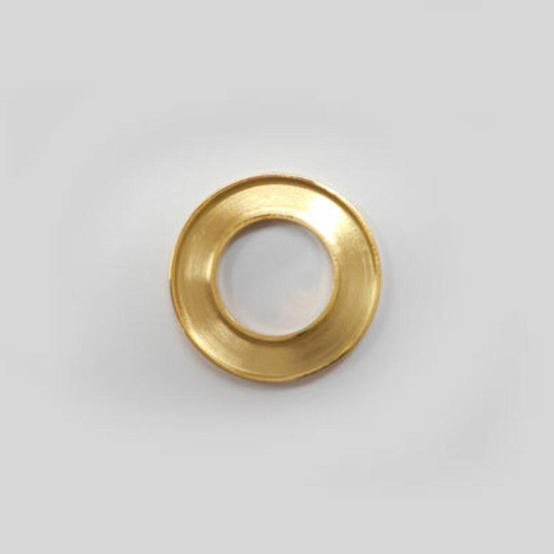 S◆Pキラキラ アクセサリー パーツ サークル 円形 チャーム 外径:18.0mm 手作り (ハンドメイド) ペンダントフレーム パーツ ステンレス316L (ゴールド)