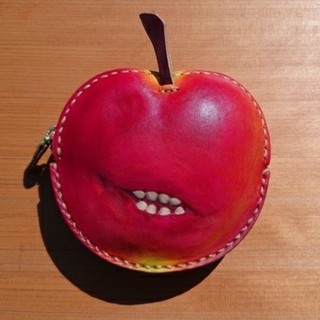 革の毒リンゴ小物入れ