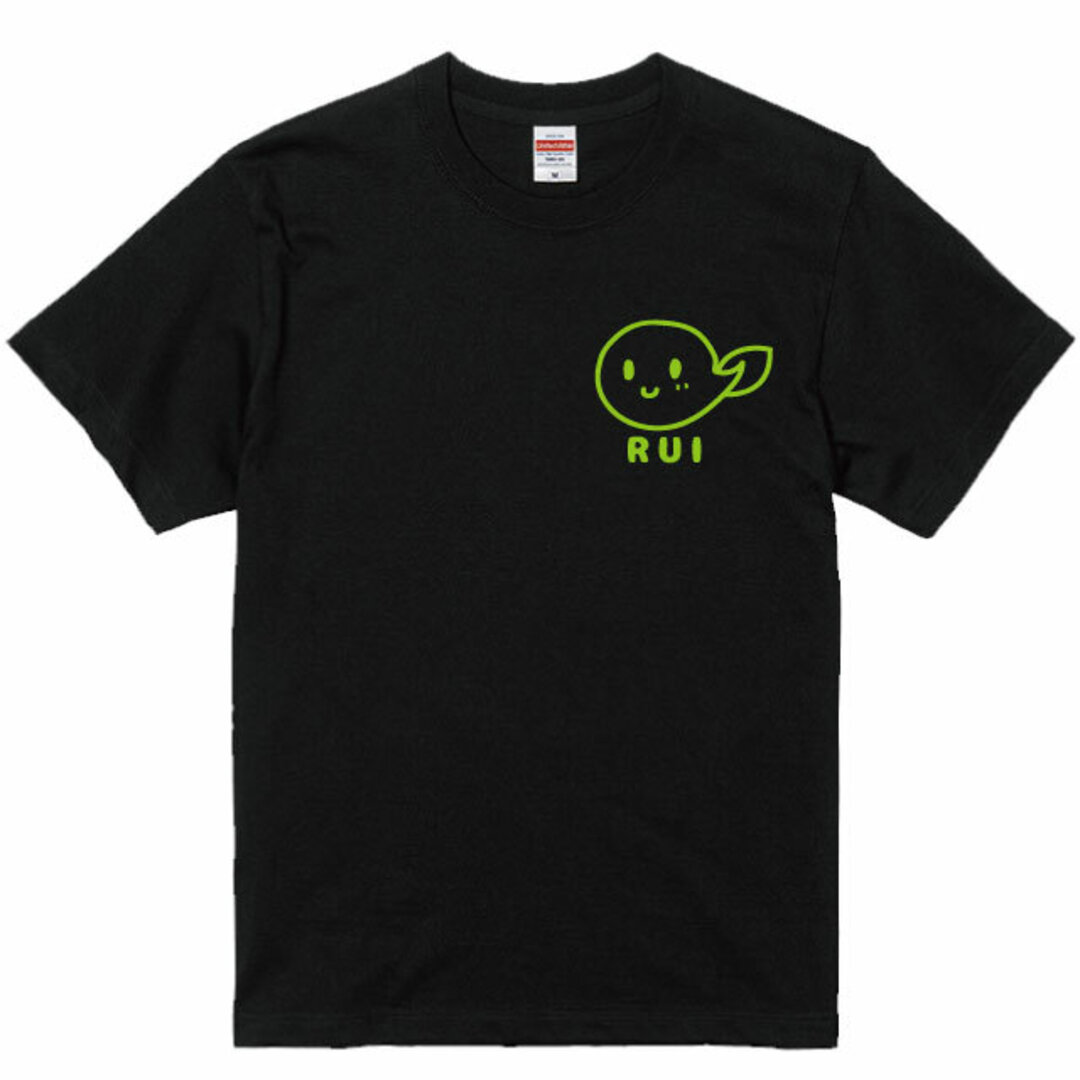 名入れ可能♪プリント位置が選べる オタマジャクシデザインTシャツブラック  綿100%