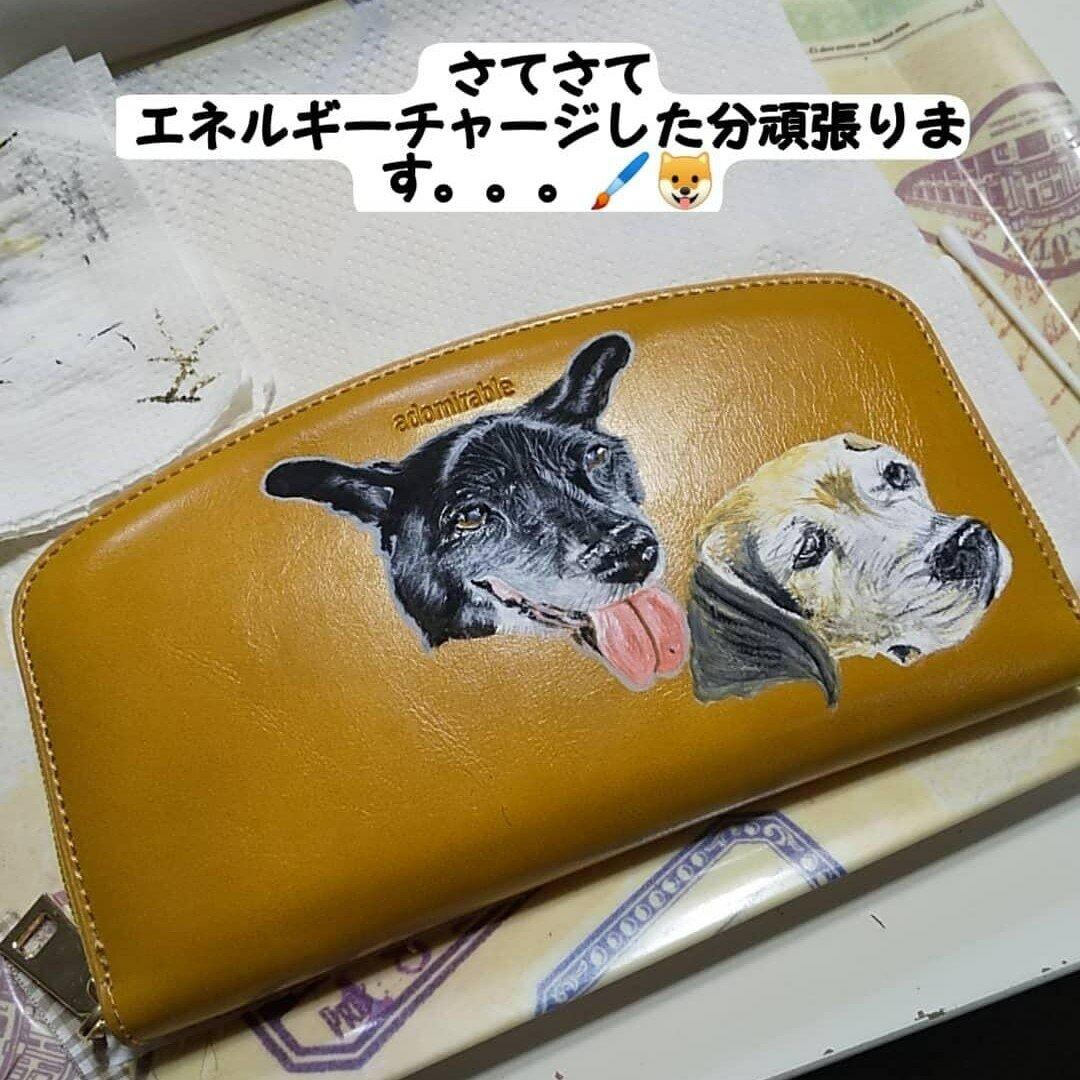 👪️まずは、メッセージください。財布の種類により金額変わります。わたしは、あなたに恋をしました♥️うちの子似顔絵オーダー