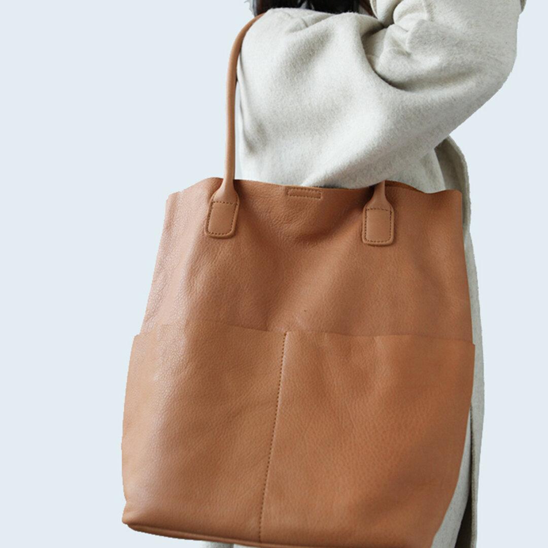 【本革 トートバッグ】マザーズバッグ 大容量 革 バッグ レザーバッグ レディースバッグ