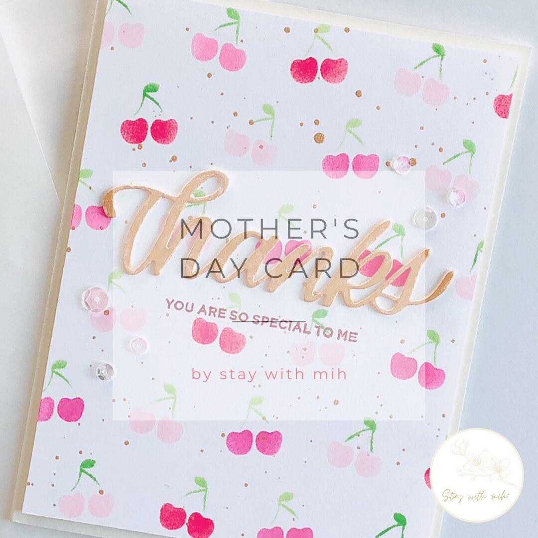 送料無料♡サンキューカード♡チェリー♡ 母の日♡