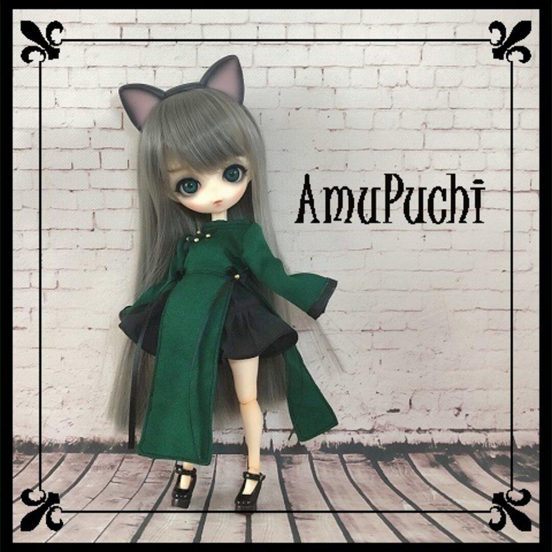 緑×黒のチャイナドレス2点Set.