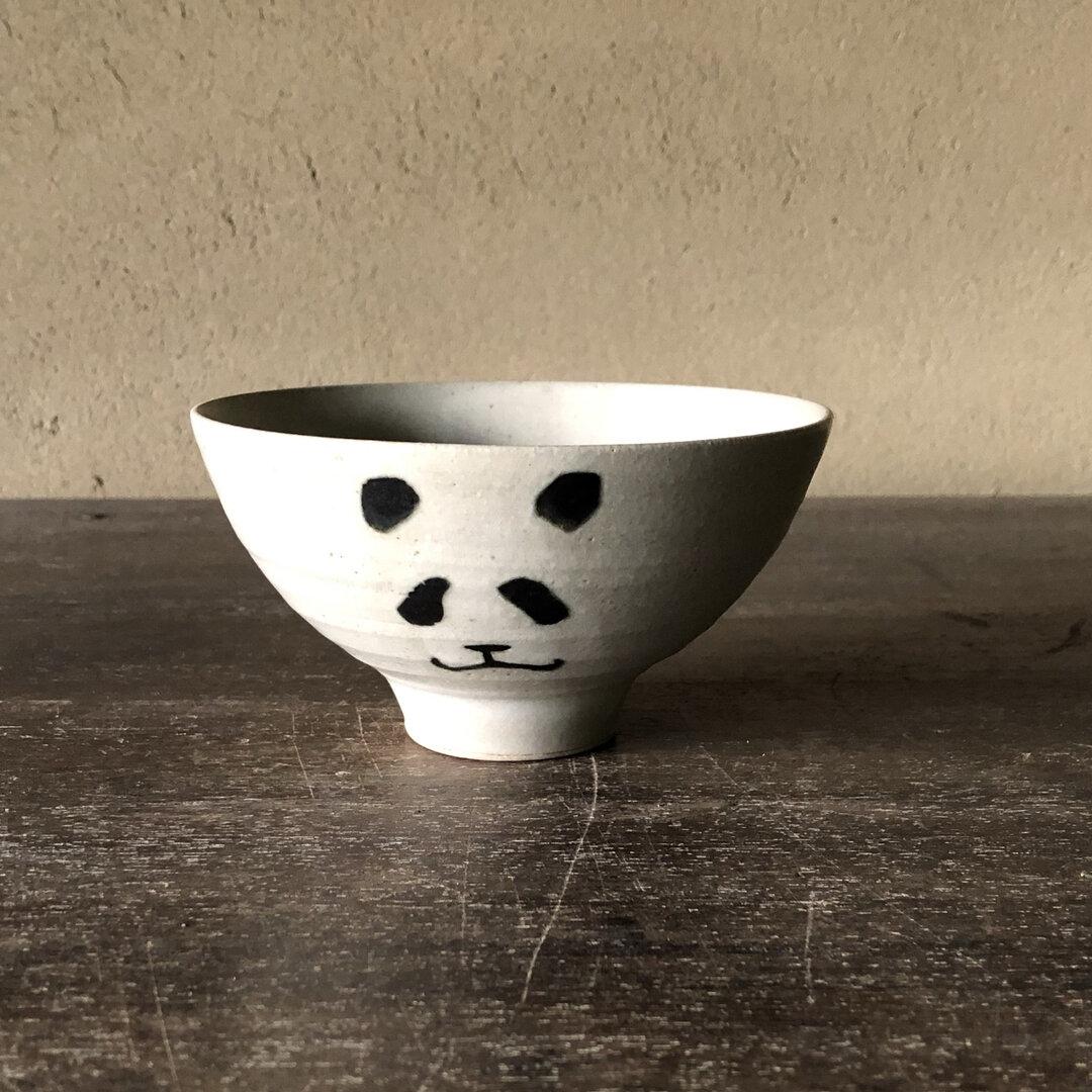 ご飯茶碗 パンダ 大 白黒
