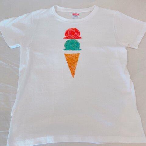 アイスクリームの手描きTシャツ【値下げ中】