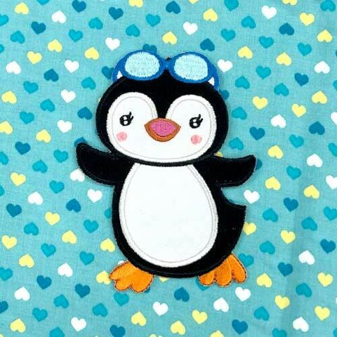 【大きい】ぺンギン アップリケ (PM-Penguin)
