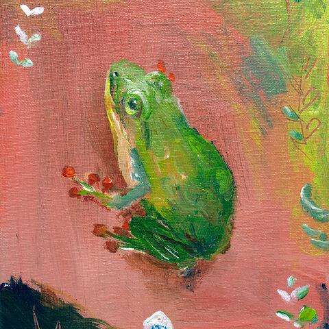 ムーンドロップのカエル