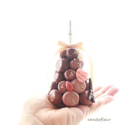 チョコレートマカロンタワーのメモスタンド