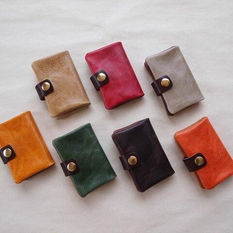豚革*カードケースL【7色】ニブリックレザー*