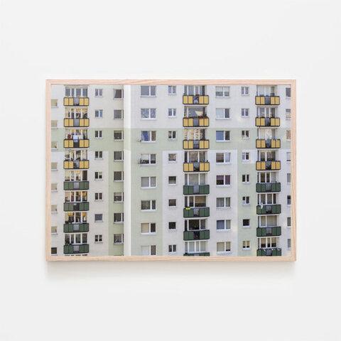 グリーントーンのビル / アートポスター カラー ミニマル インテリア 2L〜 ポストモダン ヨーロッパ