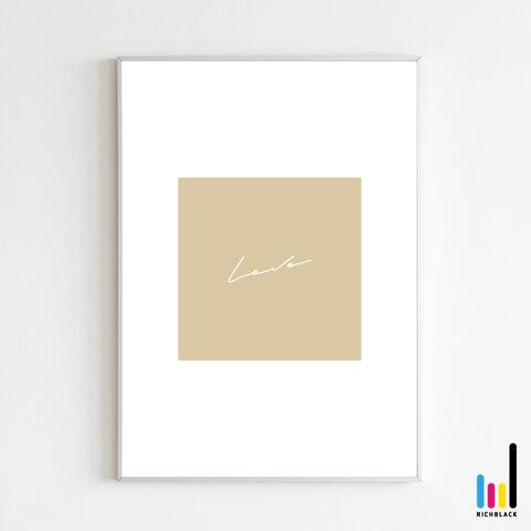 love タイポグラフィ アート プリント ポスター [ A2 ] シンプル ナチュラル 文字 雑貨 ウェルカム 玄関 サイン インテリア