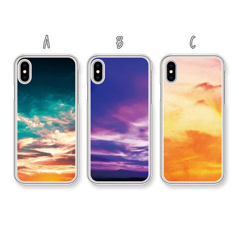 【受注生産】*選べる*『空顔 soragao』表情/カラフル/ハード/TPU/スマホケース/iPhone/Android/Xperia/AQUOS/ARROWS/Galaxy