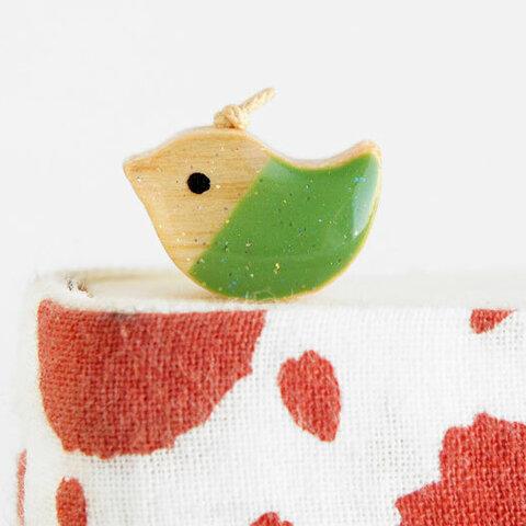 木製しおりどりカラー 緑(ブックマーカー)