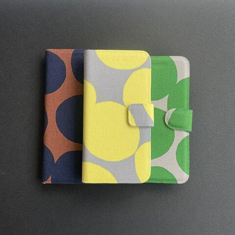 [ 全機種対応 ] 布製手帳型スマホケース【まるまる】
