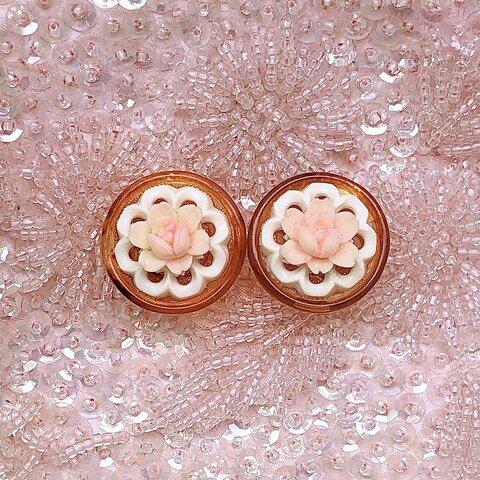 Antique*薔薇の耳飾り