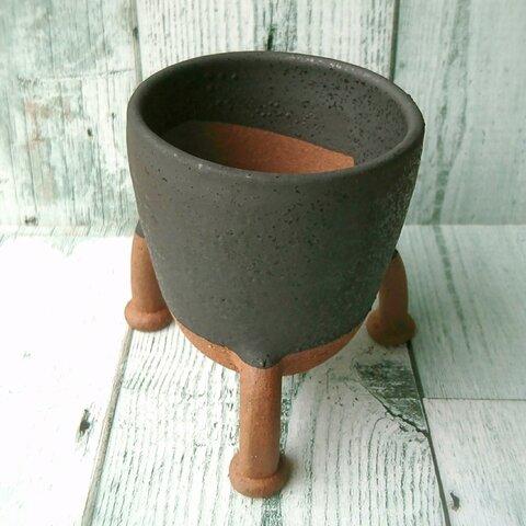 《 訳あり 》三本脚植木鉢  陶器  多肉植物  盆栽  観葉植物