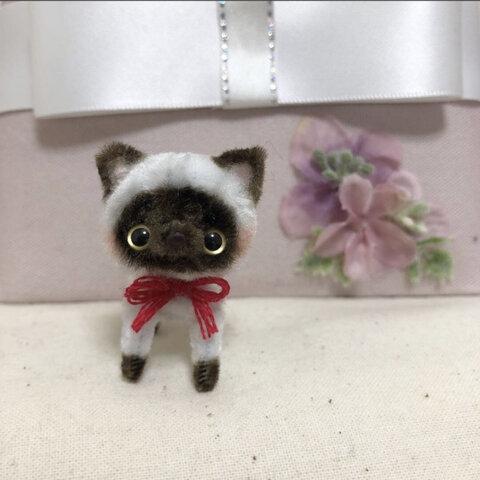 シャム猫ちゃん ブラウン モールアート モールベア