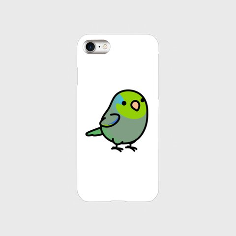 Chubby Bird  マメルリハ グリーン スマホケース  スマートフォンケース 各機種対応(受注生産)#50-S