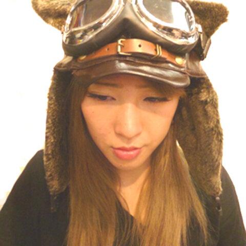 #127 スチームパンク武装女子専用 パイロット帽  ゴーグル付き