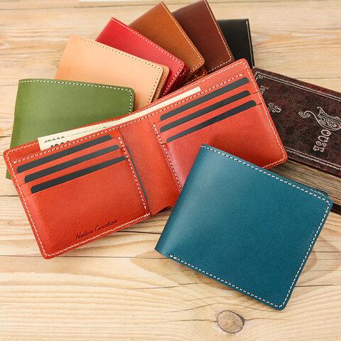 カード・札入れ用 二つ折り財布  栃木レザー【全8色】 NC3772