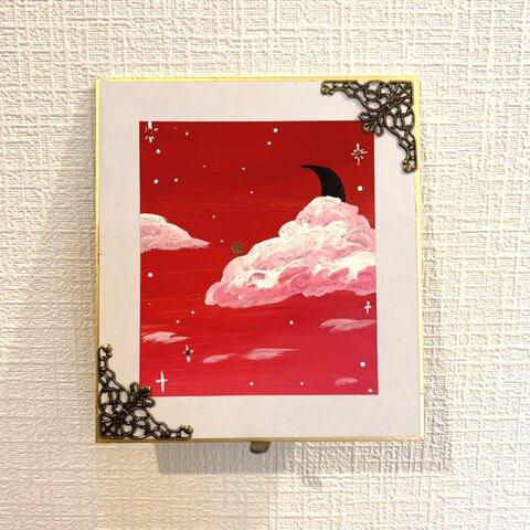 え、、雲からバラが咲いてるよ?きれいな赤い空