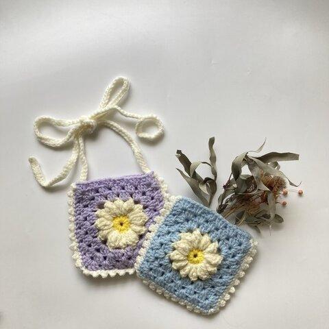 《即納》pastel color crochet pochette