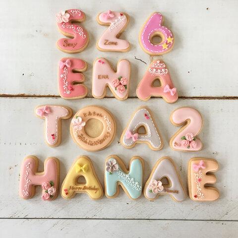 ローマ字 数字 アイシングクッキー