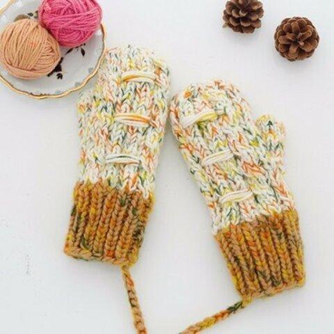 【受注生産】【Lady's】ほっこりあたたか冬手袋 NO:010