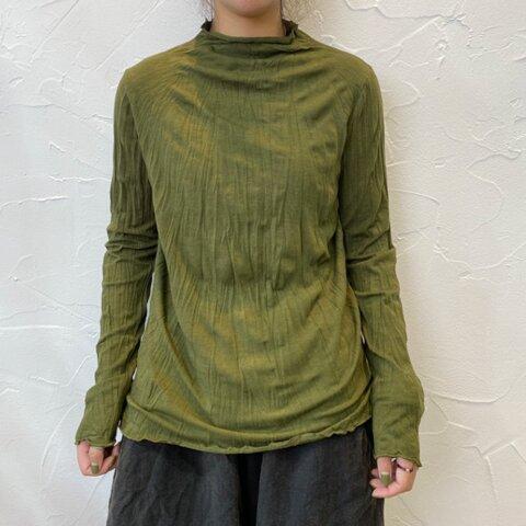 New【秋 冬】グリンー コットン 長袖Tシャツ、無地のベースシャツ