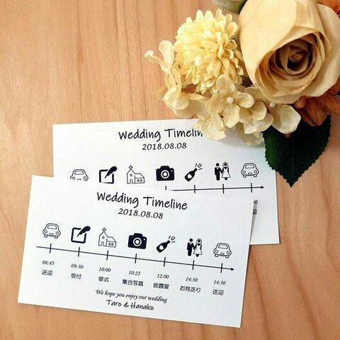wedding timeline~結婚式のタイムライン 5枚セット