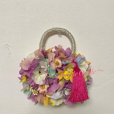 七五三 フラワーバッグ 髪飾り ブーケスタンド バッグ 和装バッグ 和装 和装小物