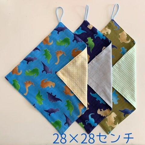 恐竜【28×28】ループ付きタオルセット