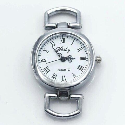 腕時計 フェイス パーツ 10 シルバー Dカン付き