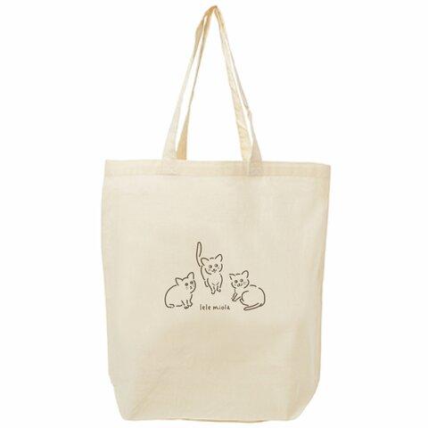 lele miolaコットンバッグ〈猫・ねこ・ネコ・チャリティ〉