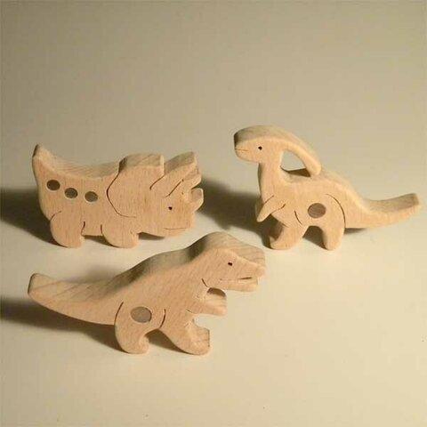 木のパズル 三頭の恐竜B