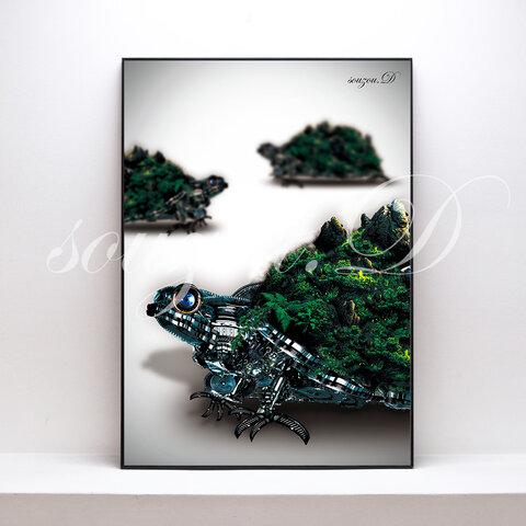 A3グラフィックアートポスター「turtle02」