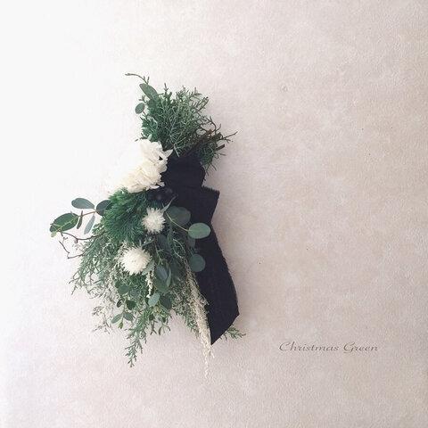 【送料無料】 グリーンスワッグa ナチュラル クリスマススワッグ ホワイトクリスマス