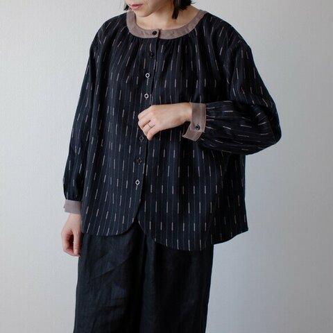 長袖 刺繍 ブラウス シャツ リネン 大人かわいい 秋 ナチュラル 麻 袖あり T162-F-K