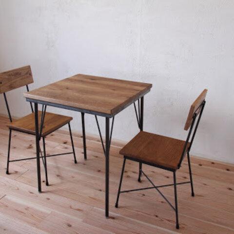 ダイニングテーブル600x600 オーク 鉄