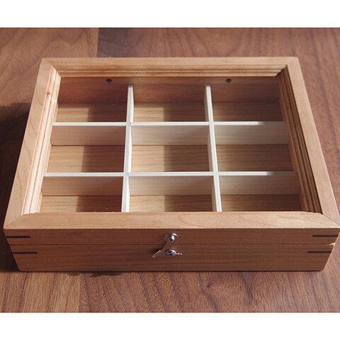 木製アクセサリーケースS チェリー(小物入れ・ジュエリーボックス)受注製作品