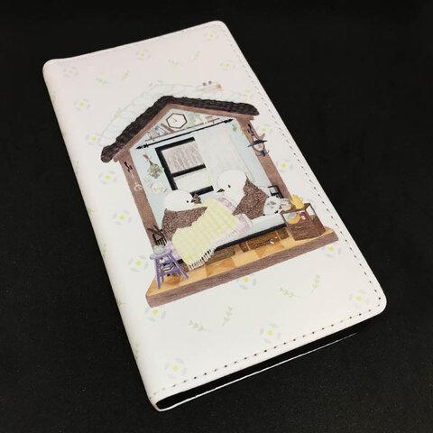 スマホ用手帳型ケース シマエナガ nest box