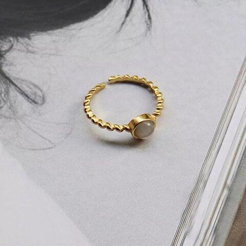 【gold】S925 ring【R-44G】