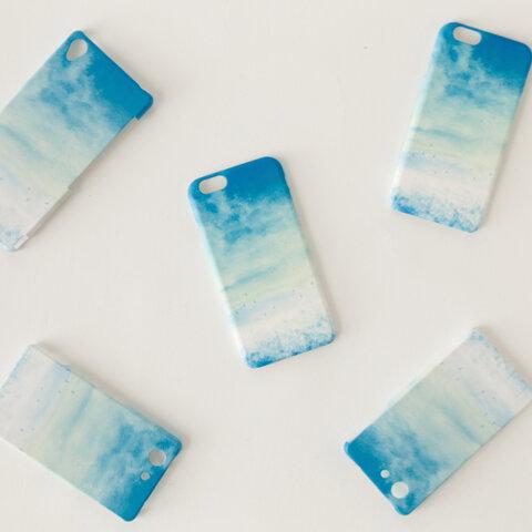【送料無料】青い、空のスマホケース
