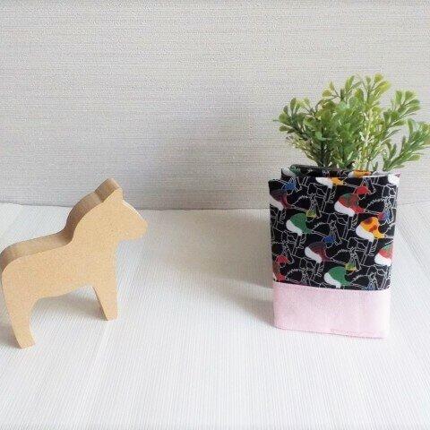 黒★競馬柄カードケース(桜)